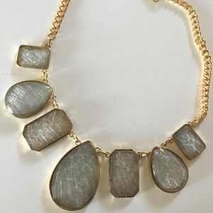 Gray gold statement necklace
